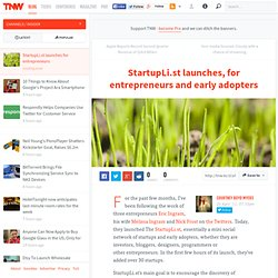 StartupL.ist launches, for entrepreneurs and early adopters