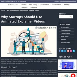 Why Startups Should Use Animated Explainer Videos