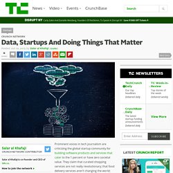 Data, Startups And Doing Things That Matter