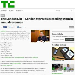 The London List – London startups exceeding $10m in annual revenues