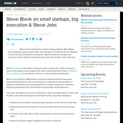 Steve Blank on small startups, big execution, and Steve Jobs