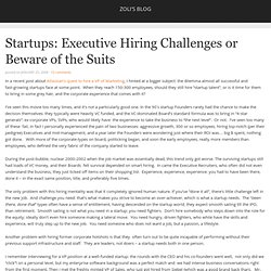 Startups: Executive Hiring Challenges or Beware of the Suits| Zoli's Blog
