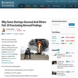Why Some Startups Succeed And Others Fail: 10 Fascinating Harvard Findings