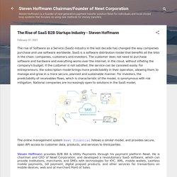The Rise of SaaS B2B Startups Industry - Steven Hoffmann