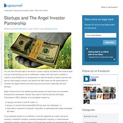 Startups and The Angel Investor Partnership