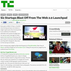 Six Startups Blast Off From The Web 2.0 Launchpad