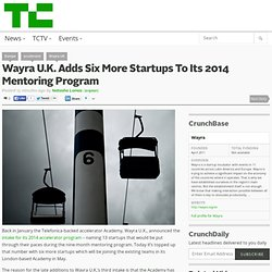 Wayra U.K. Adds Six More Startups To Its 2014 Mentoring Program