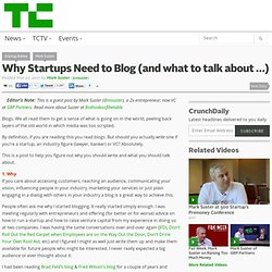 Why Startups Need to Blog (and what to talk about ?)