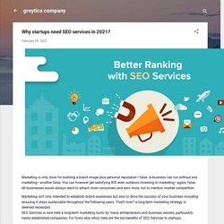 Why startups need SEO services in 2021?
