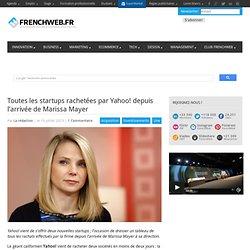 Toutes les startups rachetées par Yahoo! depuis l'arrivée de Marissa Mayer