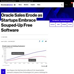 Oracle Sales Erode as Startups Embrace Souped-Up Free Software