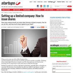 Setting up a limited company: How to issue shares