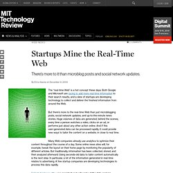 Technology Review: Startups Mine the Real-Time Web