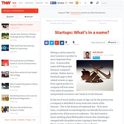 Startups: What's in a name?