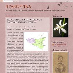 LAS GUERRAS ENTRE GRIEGOS Y CARTAGINESES EN SICILIA