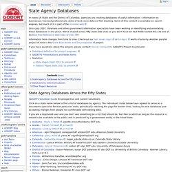 State Agency Databases - GODORT