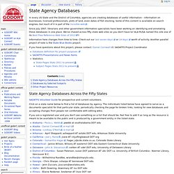 State Agency Databases - GODORT