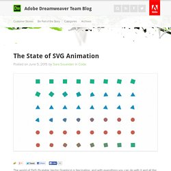 The State of SVG Animation : Adobe Dreamweaver Team Blog