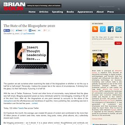 The State of the Blogosphere 2010
