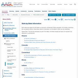 AASL Education & Careers: State-by-State Information