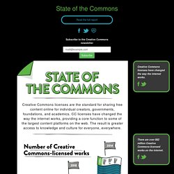State of the Commons — Creative Commons