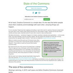 State of the Commons - Creative Commons
