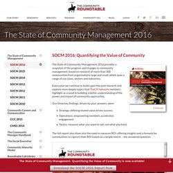 The State of Community Management 2016