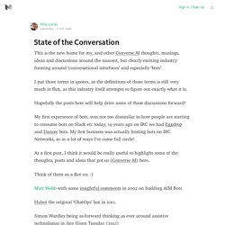 State of the Conversation