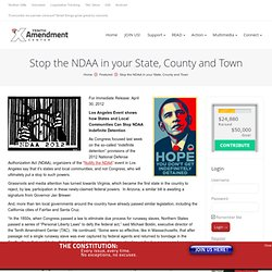 Stop the NDAA in your State, County and Town