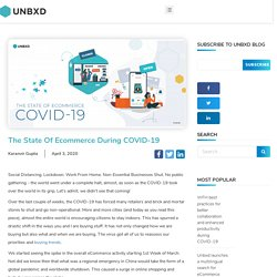 The State of ecommerce during COVID-19 - Unbxd