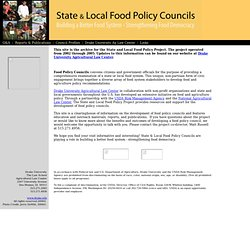 State Food Policy Council - Home