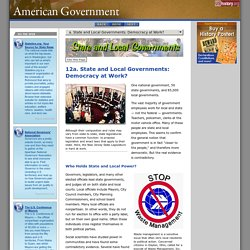 State and Local Governments: Democracy at Work?