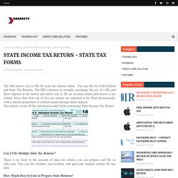 STATE INCOME TAX RETURN - STATE TAX FORMS