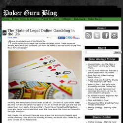 The State of Legal Online Gambling in the US