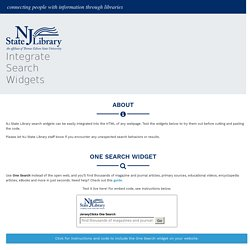 NJ State Library Search Widgets