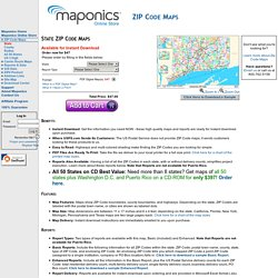 State ZIP Code Maps - ZIP Code Maps - Maponics Online Store