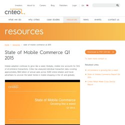 State of Mobile Commerce Q1 2015
