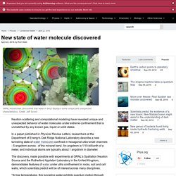 New state of water molecule discovered