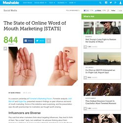 The State of Online Word of Mouth Marketing [STATS]