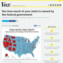 See how much of your state is owned by the federal government