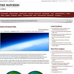 State of ozone hole