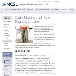 State Plastic and Paper Bag Legislation