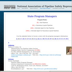 National Association of Pipeline Safety Representatives: State Program Managers