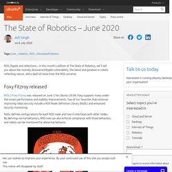 The State of Robotics – June 2020