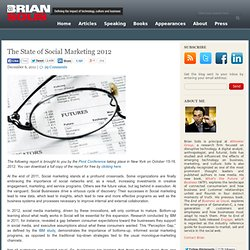 The State of Social Marketing 2011 – 2012