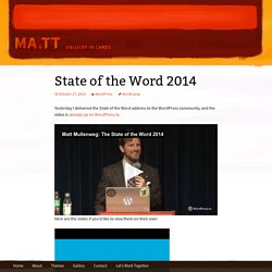 State of the Word 2014