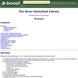 The Boost Statechart Library - Overview