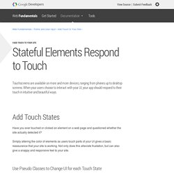 Stateful Elements Respond to Touch — Web Fundamentals