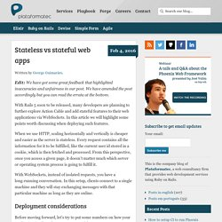 Stateless vs stateful web apps