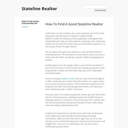 Stateline Realtor